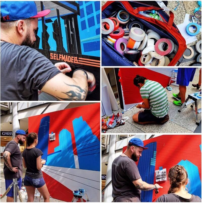 Post image- Berlin Skyline- live taping by Selfmadecrew at Street Art Festival 2016
