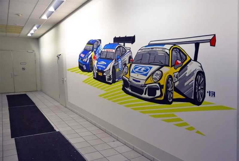 three-racing-cars-duct-tape-graffiti-commission-ZF-Race-Engineering-2016
