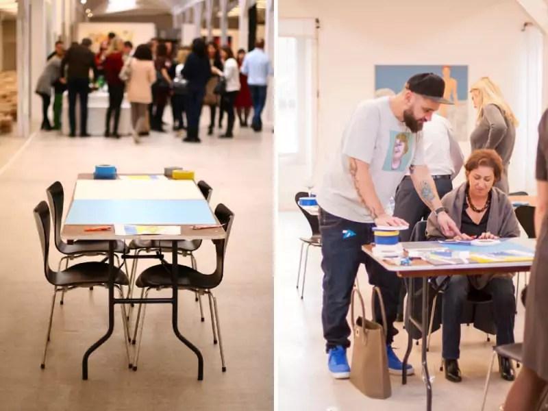 Der Anfang- Künstler Ostap weist die Team-building-Workshop-Teilnehmer an