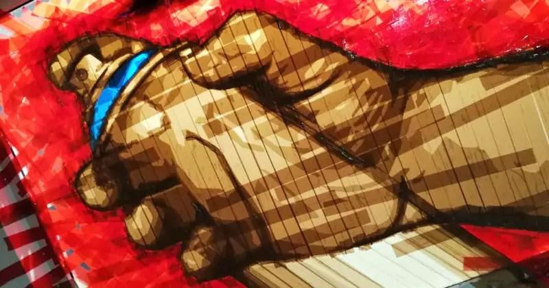 Ostap für Wandelism- Mit Paket-Klebeband geklebte Sprühdose