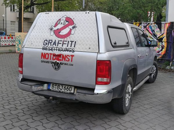 Official Graffiti Busters service vehicle- by Ostap Artist