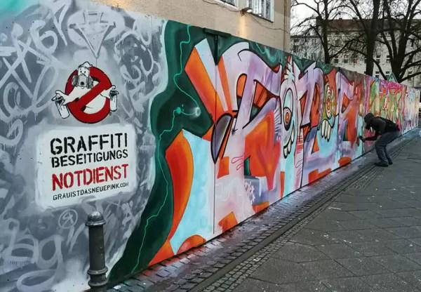 Graffitibeseitigungsnotdienst in Weiß- Street Art- Berlin-Wedding