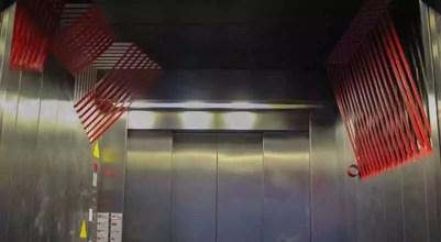 Abstraktes 3D Klebeband-Kunst im Fahrstuhl- Büro Design