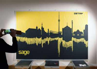 Tape Art-Skyline Stuttgart