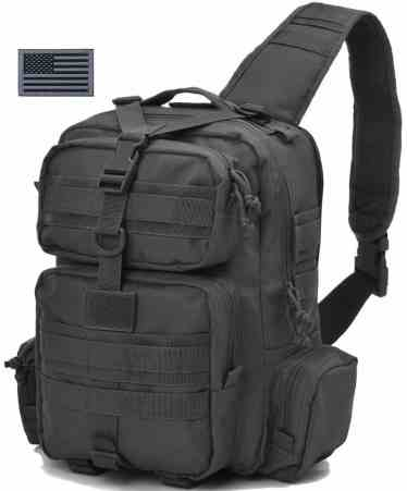 Reebow Tactical Sling Bag Pack Military Rover Shoulder Sling Backpack Review