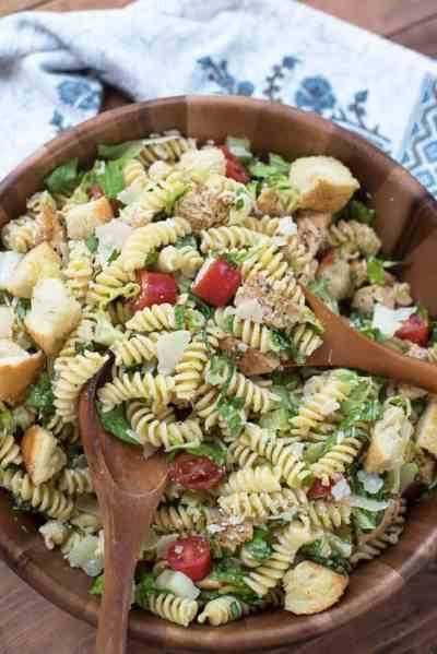 Chicken Caesar Pasta Salad | From Valerie's Kitchen