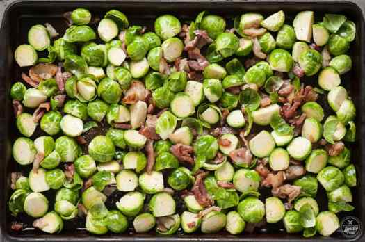 balsamic brussel sprouts with bacon