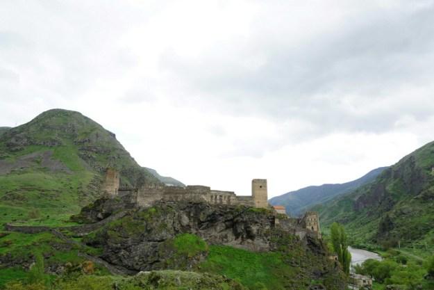 Castle next to Paravani hydropower station