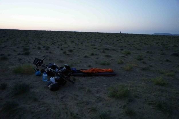 First night bivvying out in Kazakhstan