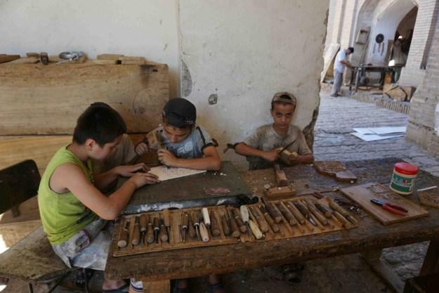 Apprentice carpenters in Khiva