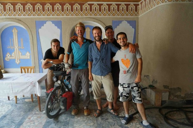 With Henk, Ritzo, Timo and Bekh at Hotel Rumi, Bukhara