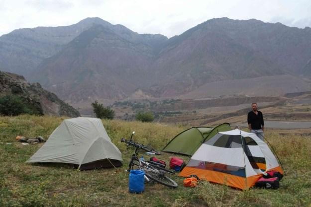 The campsite that killed my kit, near Obigarm. Photo credit: I.Mathews
