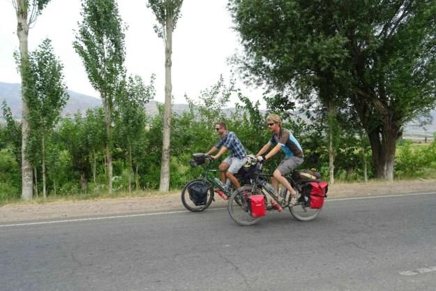 With Ritzo on the M41 near Faizabod. Photo credit: I. Mathews