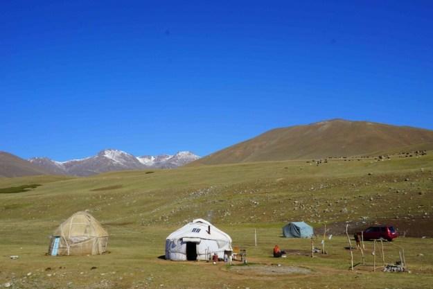 Yurts between Ala Bel and Tuu Ashu passes, en route to Bishkek