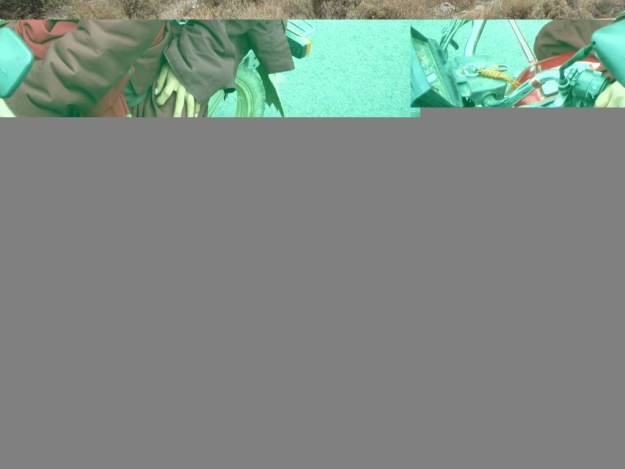 Young monks in Yalong Canyon.