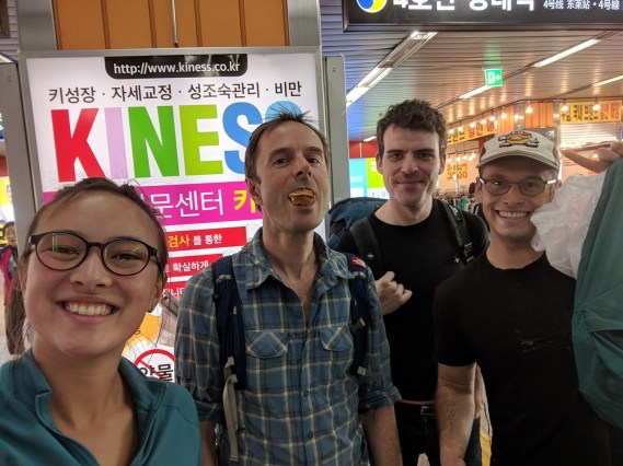 Farewell send off in Busan with my friends from Samcheok. Photo: A.Aufderheide