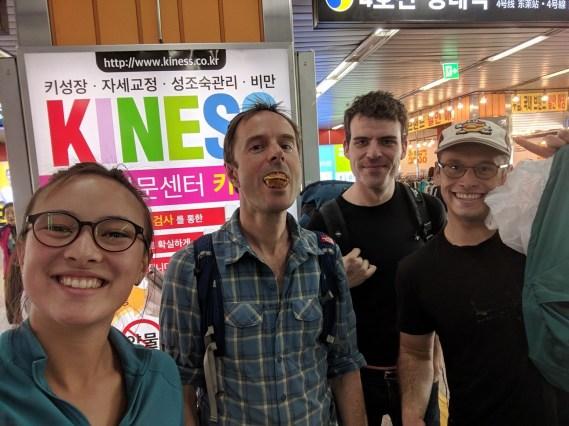 Farewell send off in Busan with my friends from Samcheok. Photo: A.Aufderheide