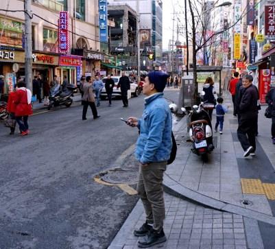 Korean hipster.