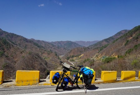 Climbing switchbacks in Northern Gangwon-do