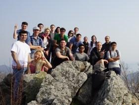 Jangboksan with Changwon and Busan hiking groups.