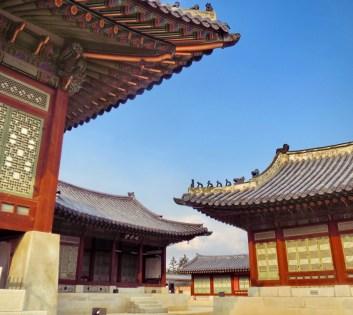 Hanok architecture inside Gyeongbokgung Palace, Seoul.