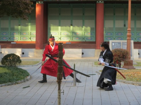Sword skills demonstration in Daegu