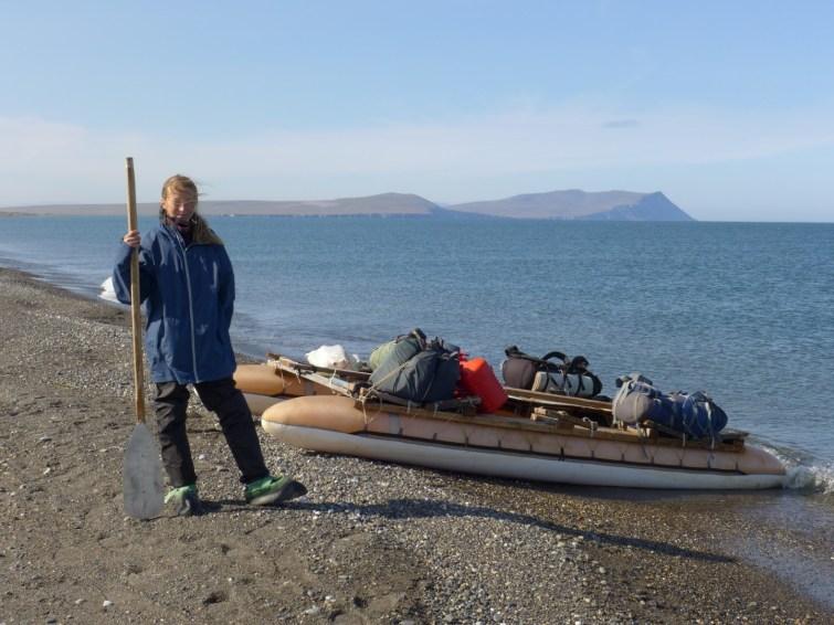 Yana and the raft