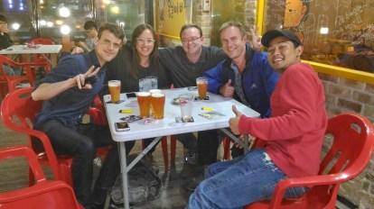 Samcheok Nights with Matt (UK), Allie (USA), Josh (USA) and Sid (Nepal).