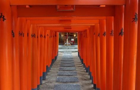 Inside Kushida Shrine, Fukuoka