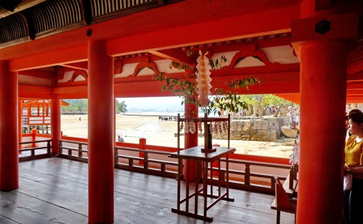 Inside Itsukushima sea shrine