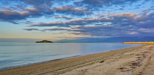 My own private beach for swimming in the Seto Inland Sea, at Imabari, Shikoku