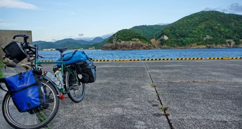 """Any port in a storm?"", er, no. Perhaps this was one time I should have used the official campground. In Ebisuhama, Shikoku.h"