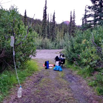 Cooking away from the tent on the Denali Highway. That's my water filter in the foreground, in case you're wondering.