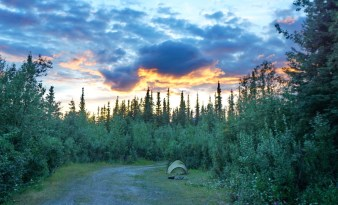First camp on the Denali Highway.