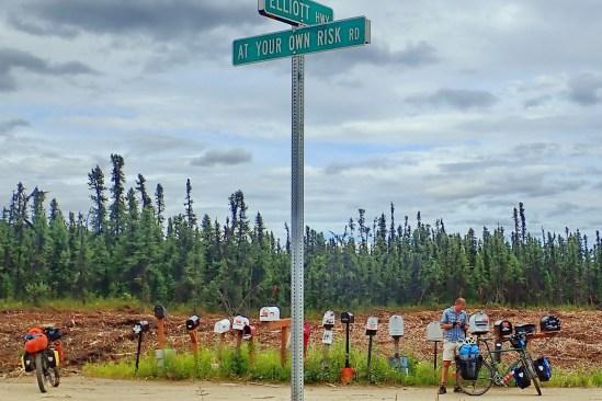 Alaskan roadnaming humour. Photo: A.Hughes