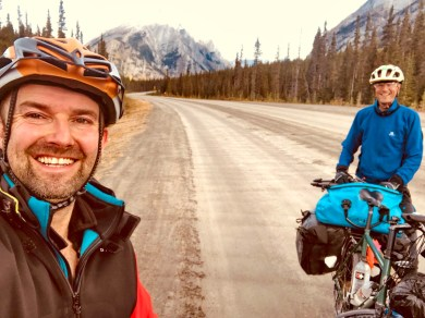 On Spray Lakes Road, day two. Photo: S.Coackley