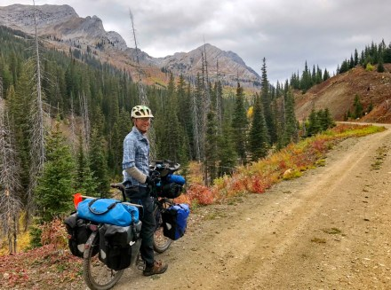Climbing Cabin Pass, on day two in Flathead Alternative. Photo: S.Coackley