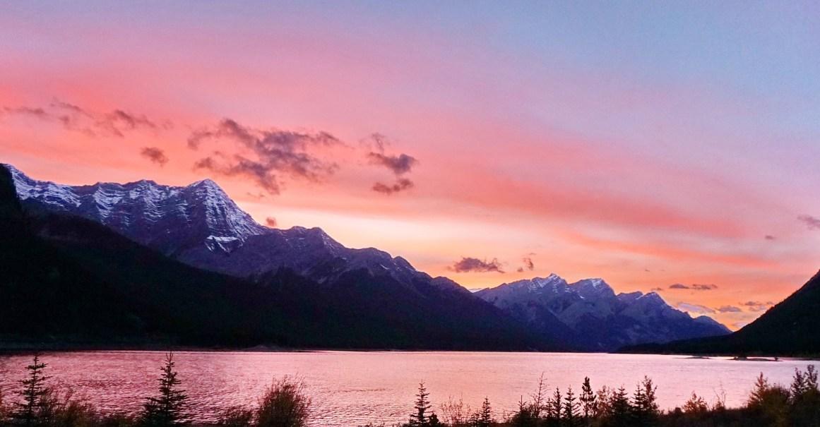 Sunset at Spray Lake Reservoir