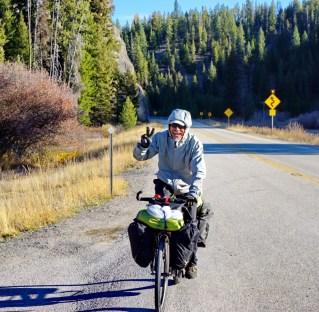 Mr Le pours it on leaving Lolo Hostprings towards the Idaho border