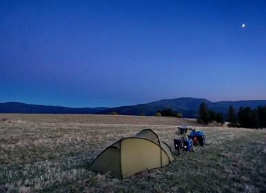 Camping on a family farm, Idaho