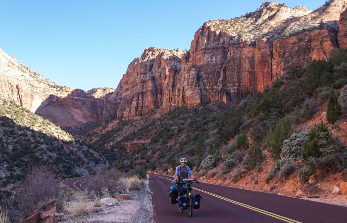 Leaving Zion Canyon, heading towards Mount Carmel Tunnels