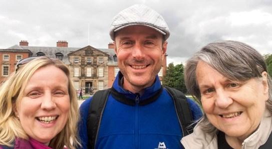 With sister Katie and Mum at Dunham Massey, Cheshire
