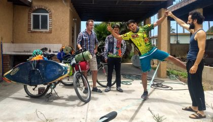 During August Chema and I hosted a few Warmshowers guests. Here with Edgar and Isai from Chihuahua. Photo: J.Perelló