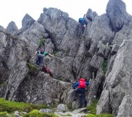 On Tryfan with Nick and Matt. Photo: S.Higgins