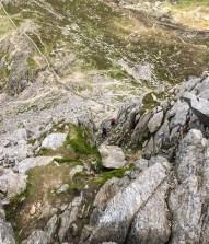 On Bristly Ridge, Glyder Fach, North Wales. Photo: N.Corbett