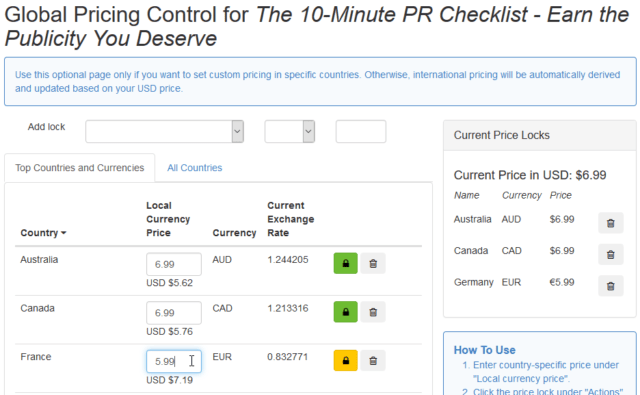 Smashwords global pricing control