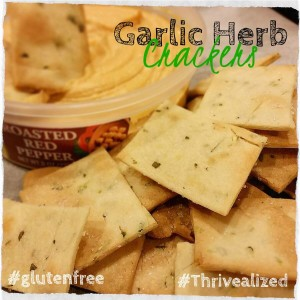 garlic herb crackers