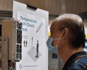 self-check temperature kiosk