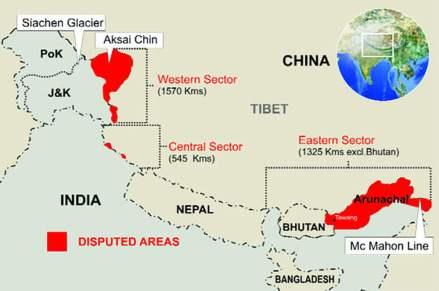 India-China-border-disputes
