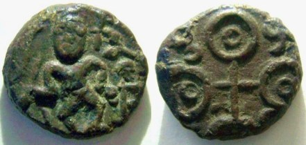 A_copper_uninscribed_coin_of_Ujjayini